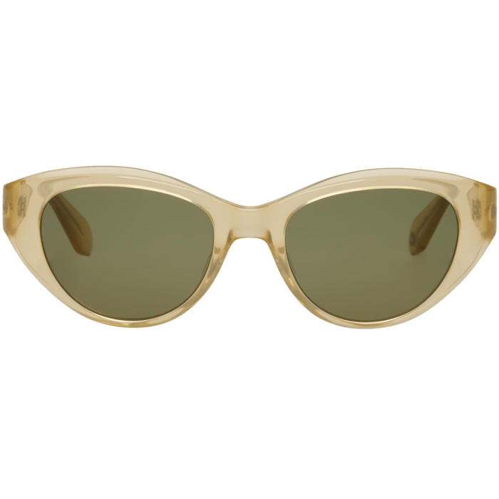 Photo: Garrett Leight Gold and Green Del Rey Sunglasses