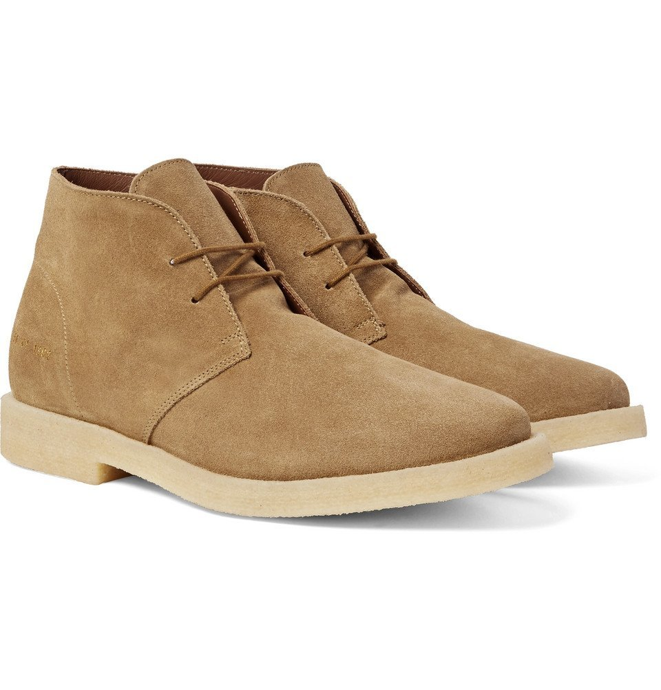 Common Projects - Suede Desert Boots - Men - Sand