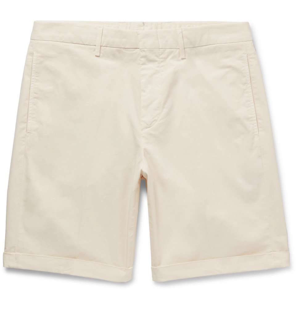 Photo: Dunhill - Cotton-Blend Twill Bermuda Shorts - Off-white