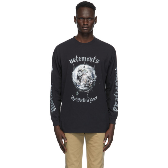Photo: VETEMENTS Black Motorhead Edition The World is Yours T-Shirt