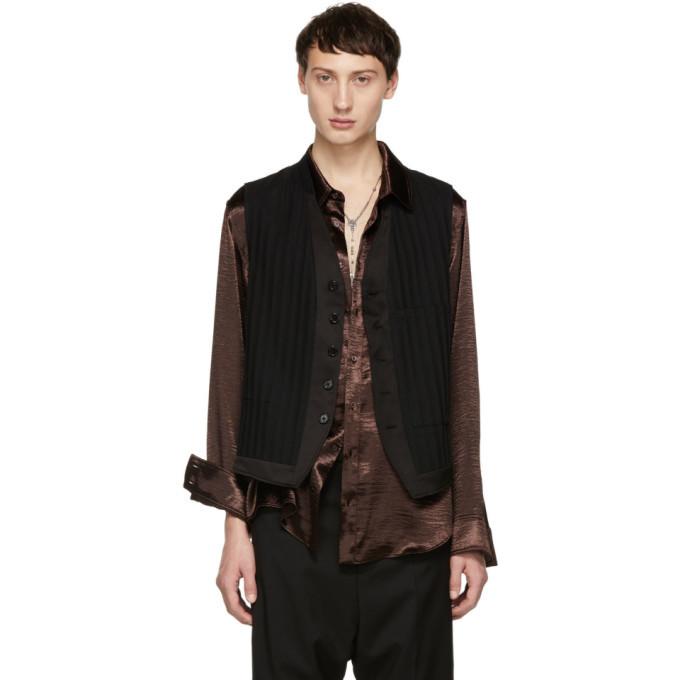 Photo: Ann Demeulemeester Black Heracling Waistcoat