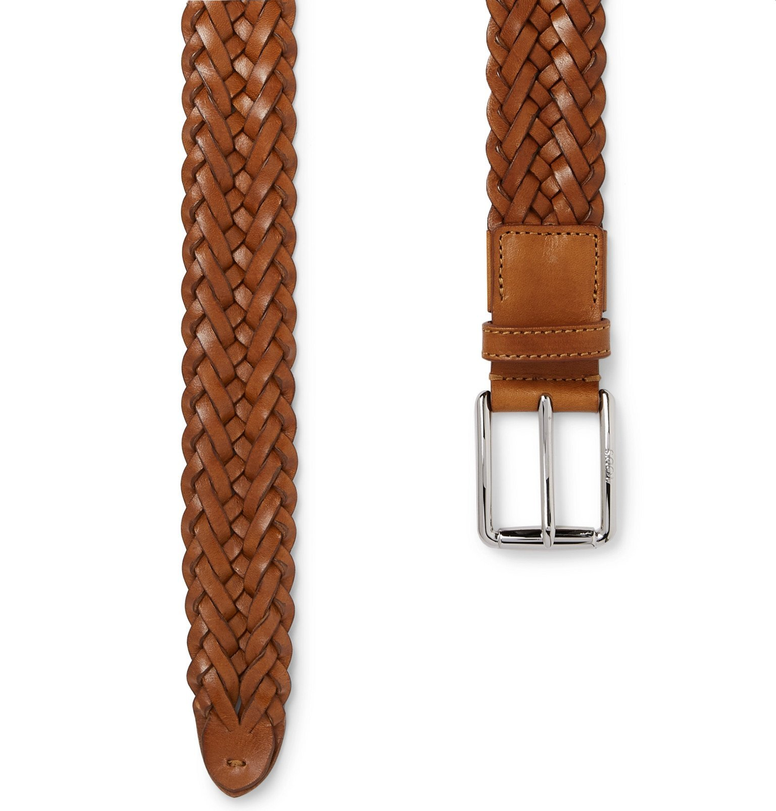 Tod's - 3.5cm Woven Leather Belt - Brown