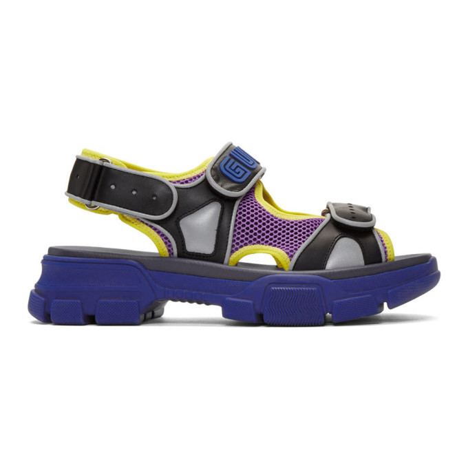 Photo: Gucci Black and Blue Aguru Sandals