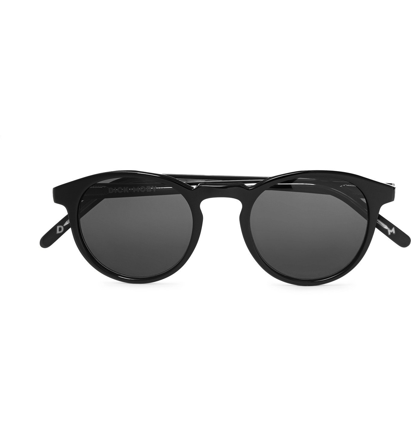 Photo: Dick Moby - Seattle Round-Frame Acetate Sunglasses - Black