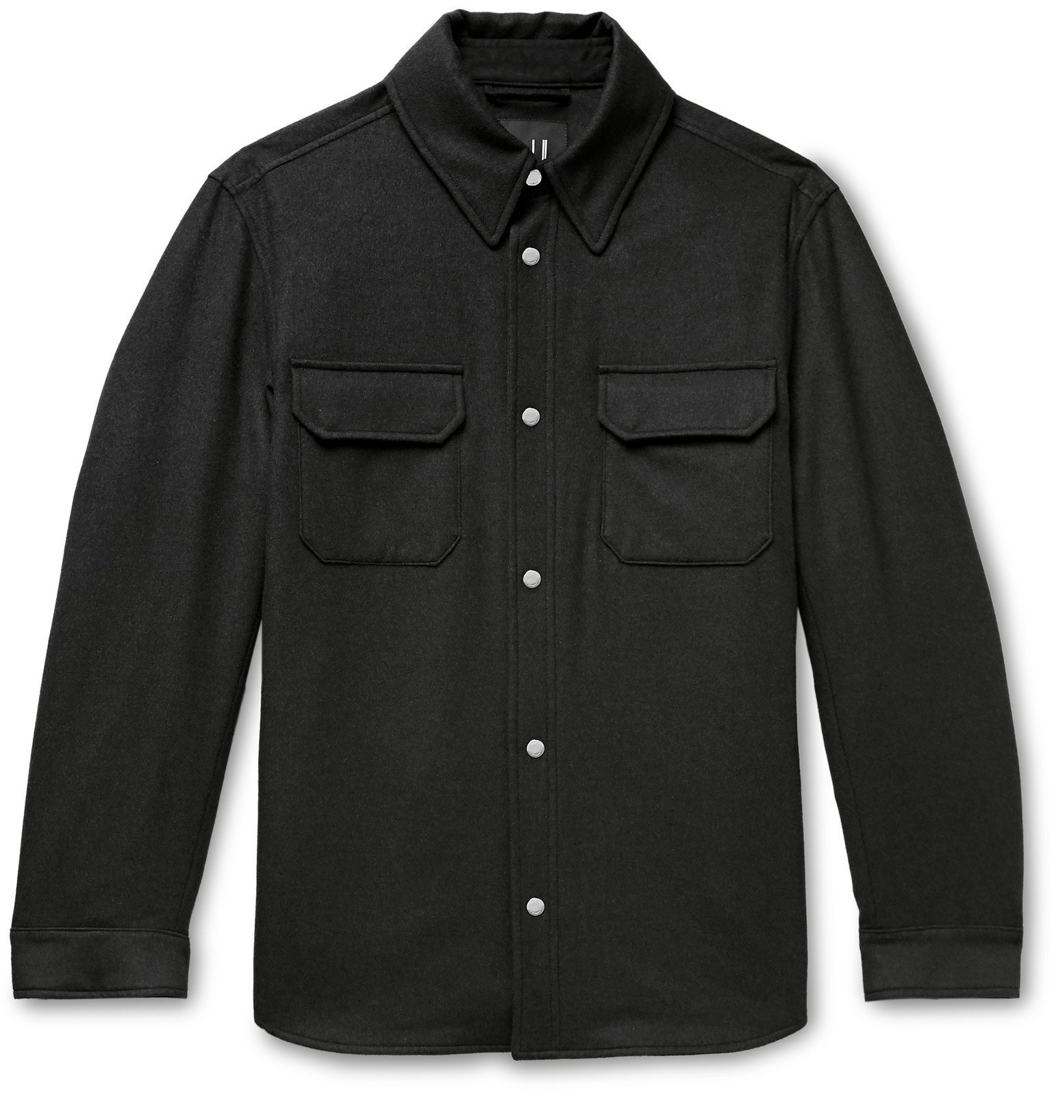 Dunhill - Padded Wool, Mulberry Silk and Cashmere-Blend Overshirt - Gray
