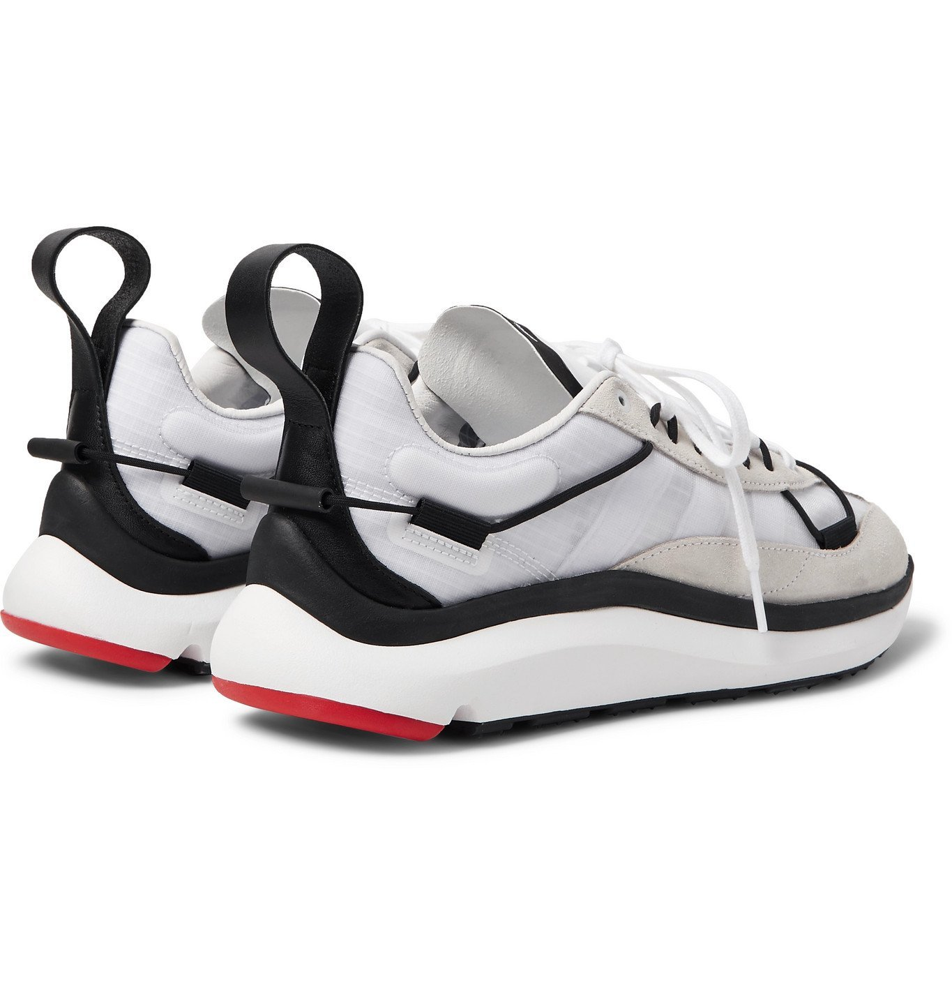 Y-3 - Shiku Run Leather and Suede-Trimmed Mesh Sneakers - White