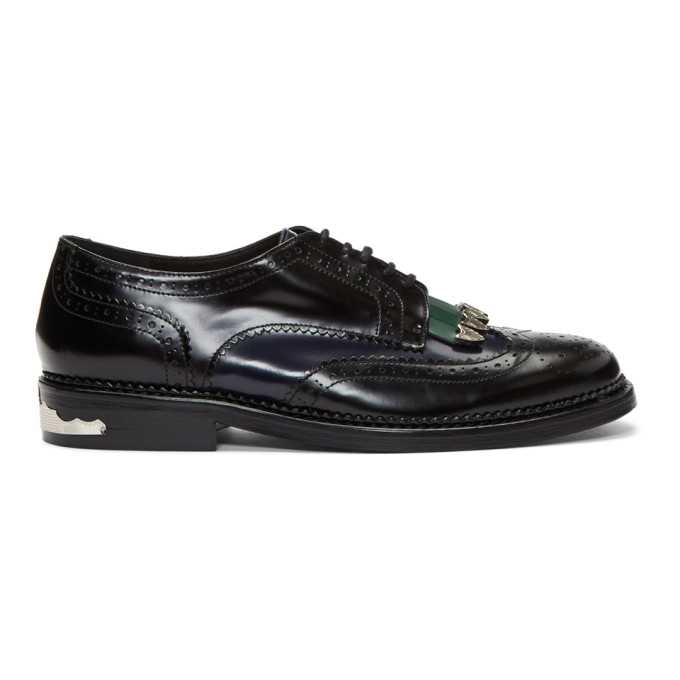 Photo: Toga Virilis Black Mix Brogues