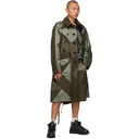 Sacai Khaki Hank Willis Edition Solid Mix Thomas Coat