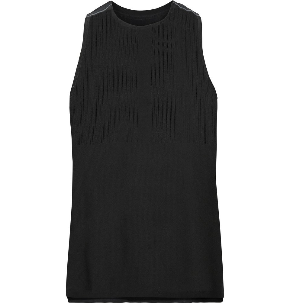Photo: Nike Running - Tech Pack Stretch-Mesh Tank Top - Black