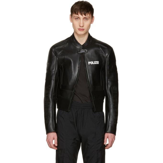Photo: Vetements Black Leather Racing Jacket