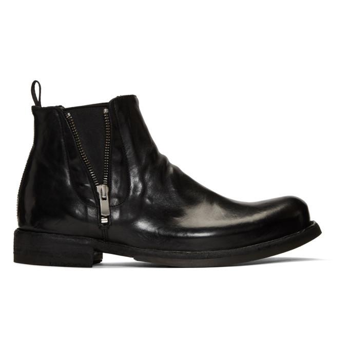 Photo: Officine Creative Black Ikon 39 Chelsea Boots