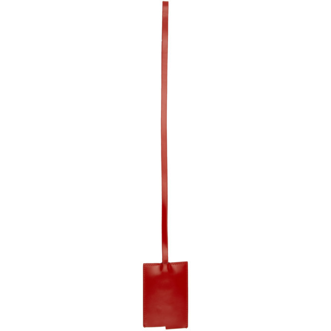 Bottega Veneta Red Spazzolato Rope Keychain