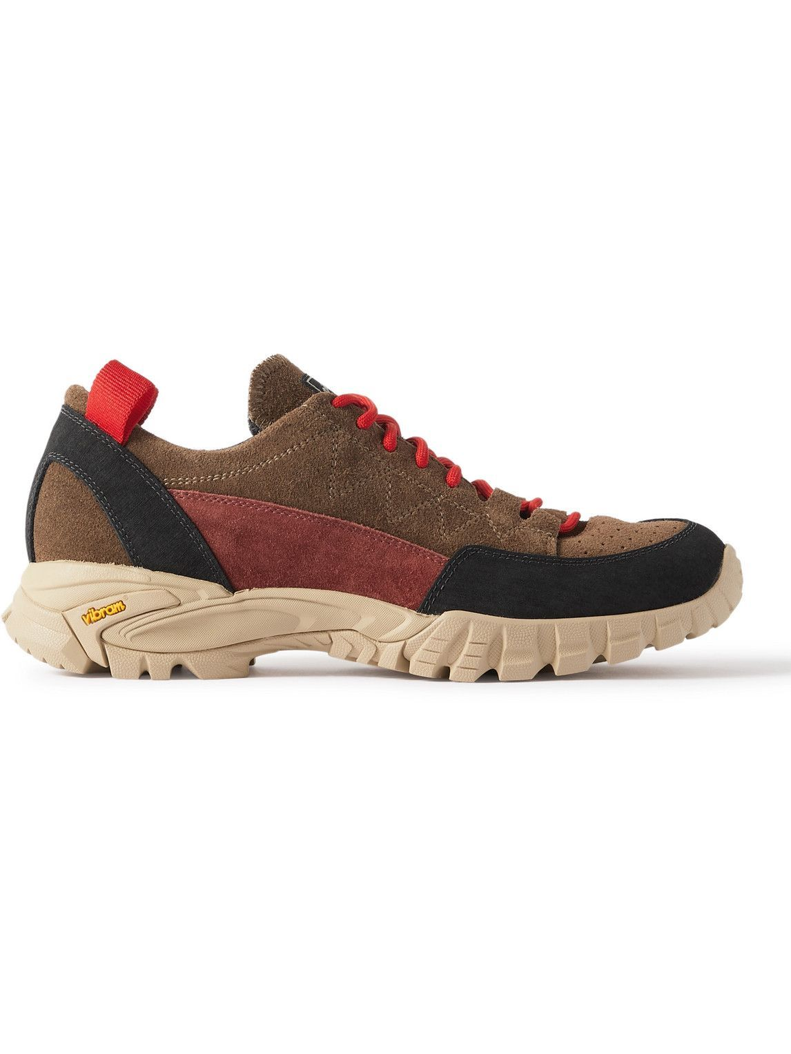 Photo: Diemme - Possagno Panelled Suede Sneakers - Brown
