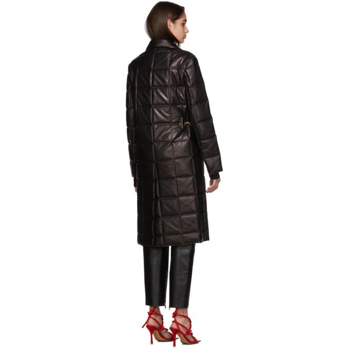 Bottega Veneta Black Lambskin Quilted Coat