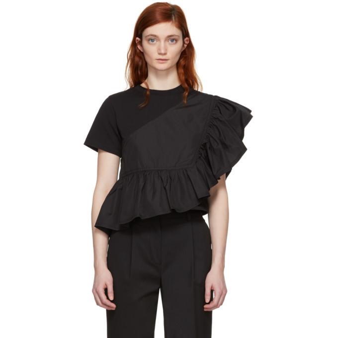 3.1 Phillip Lim Black Flamenco T-Shirt