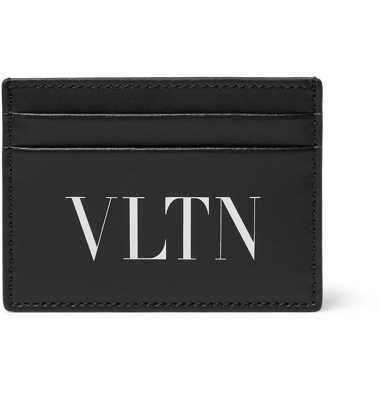 Photo: Valentino - Valentino Garavani Logo-Print Leather Cardholder - Black