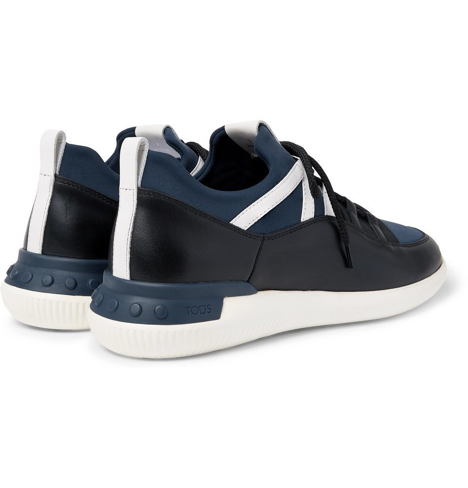 Tod's - No_Code Neoprene and Leather Sneakers - Men - Navy