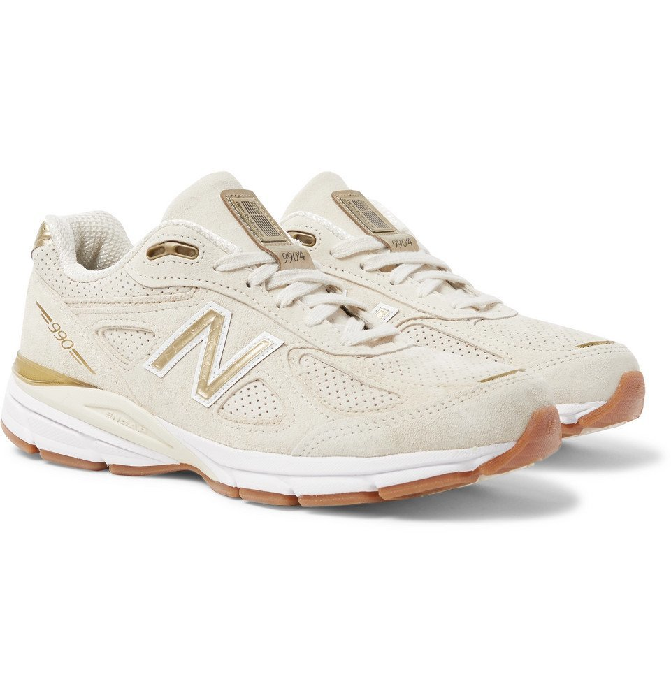 New Balance - 990V4 Suede Sneakers - Men - Cream