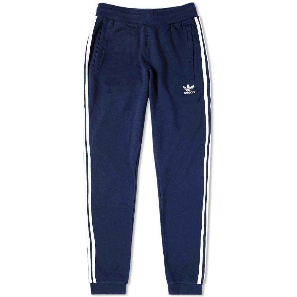 Adidas 3 Stripe Sweat Pant Blue