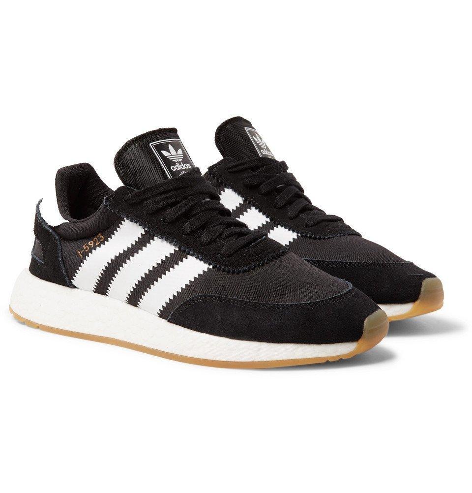 adidas Originals - I-5923 Suede-Trimmed Neoprene Sneakers - Men - Black