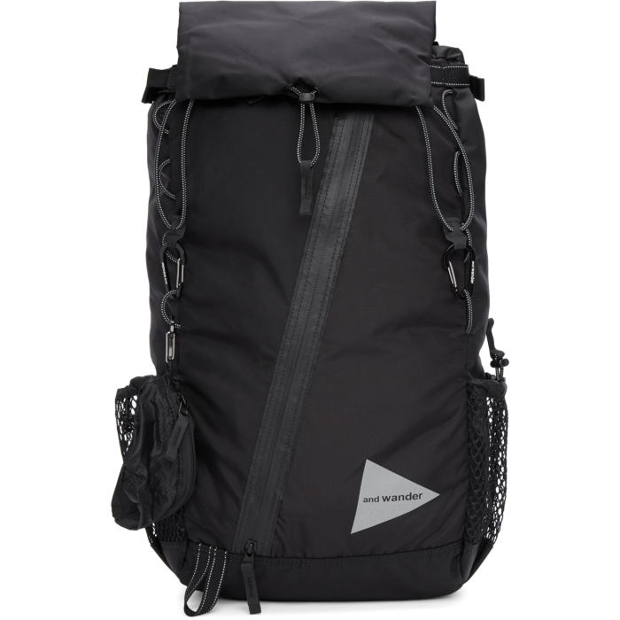 Photo: and Wander Black Convertible 30L Front Pouch Backpack