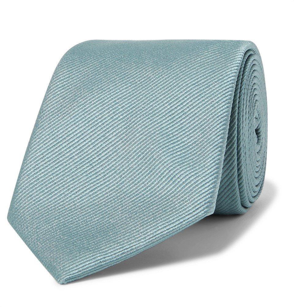 Giorgio Armani - 7cm Silk-Faille Tie - Light blue