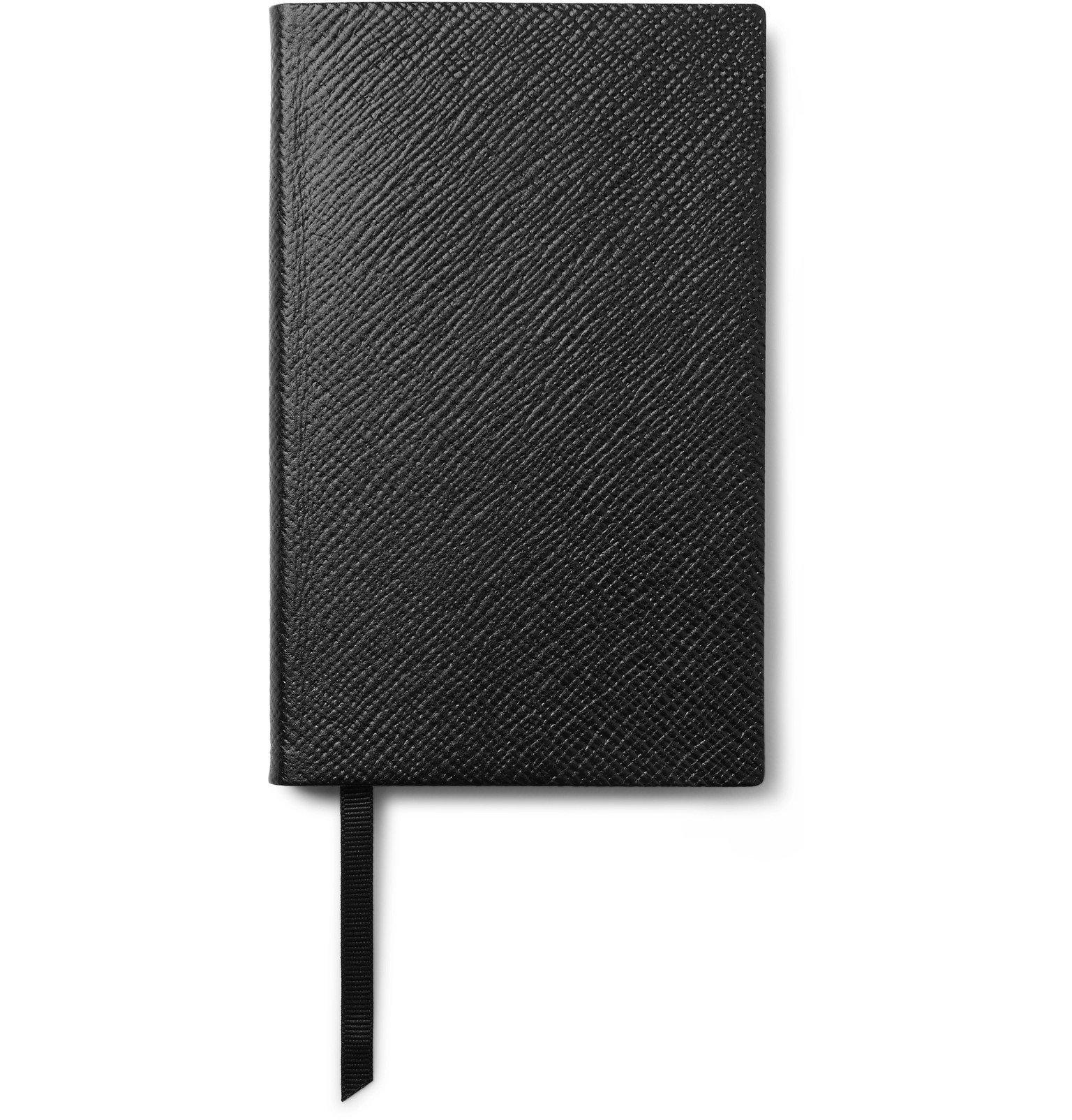 Smythson - Panama Cross-Grain Leather Notebook - Black