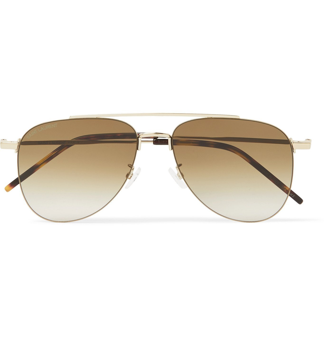 Photo: SAINT LAURENT - Aviator-Style Gold-Tone Sunglasses - Gold