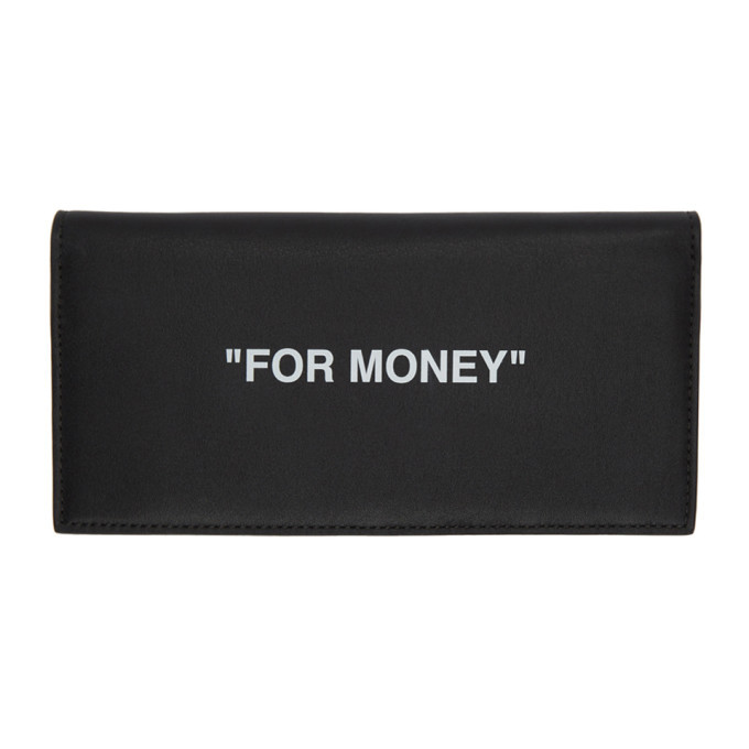 Photo: Off-White Black and White Quote Yen Wallet
