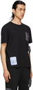 MCQ Black Nylon Overlay T-Shirt