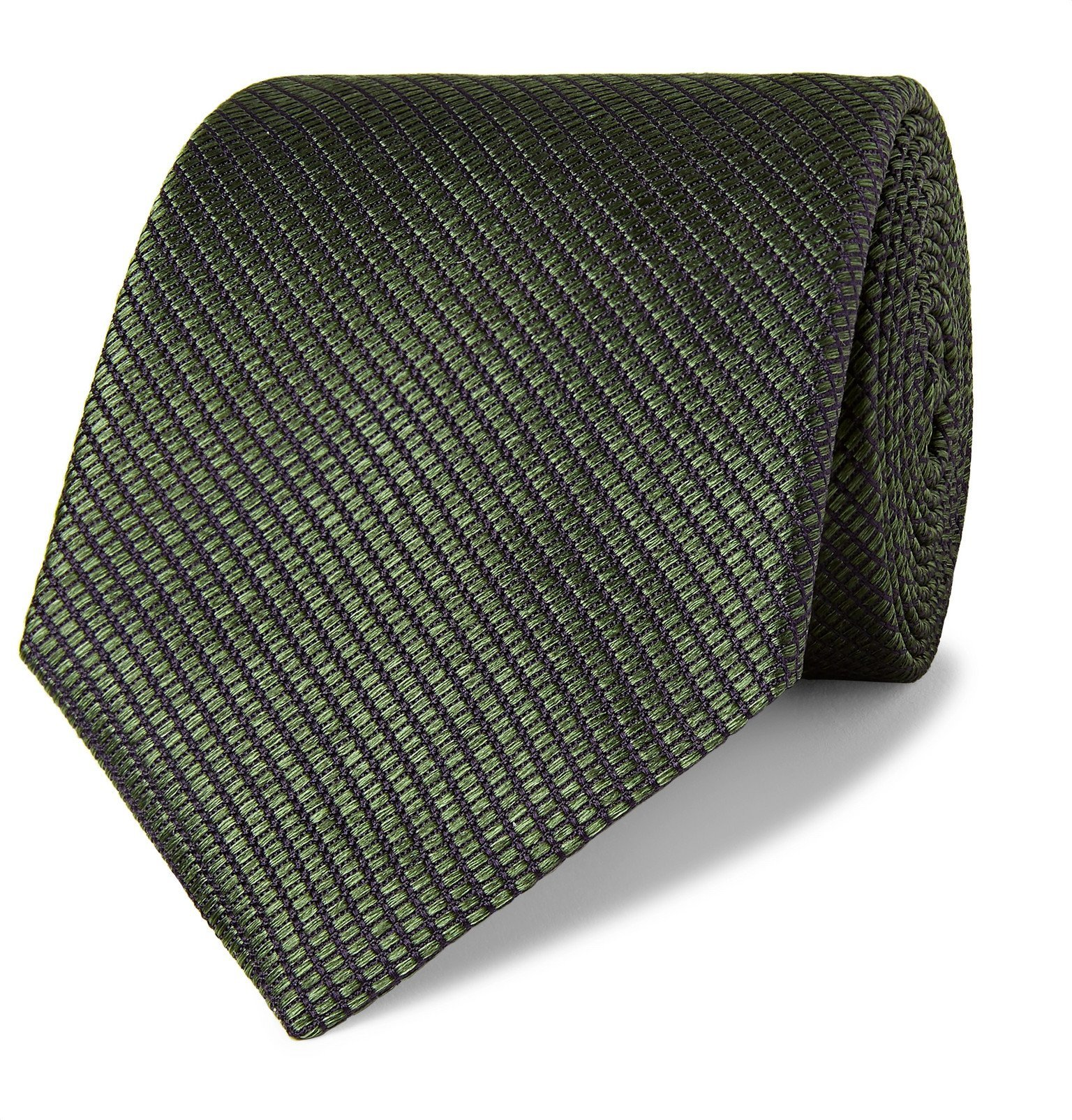 Photo: Canali - 8cm Silk-Jacquard Tie - Green