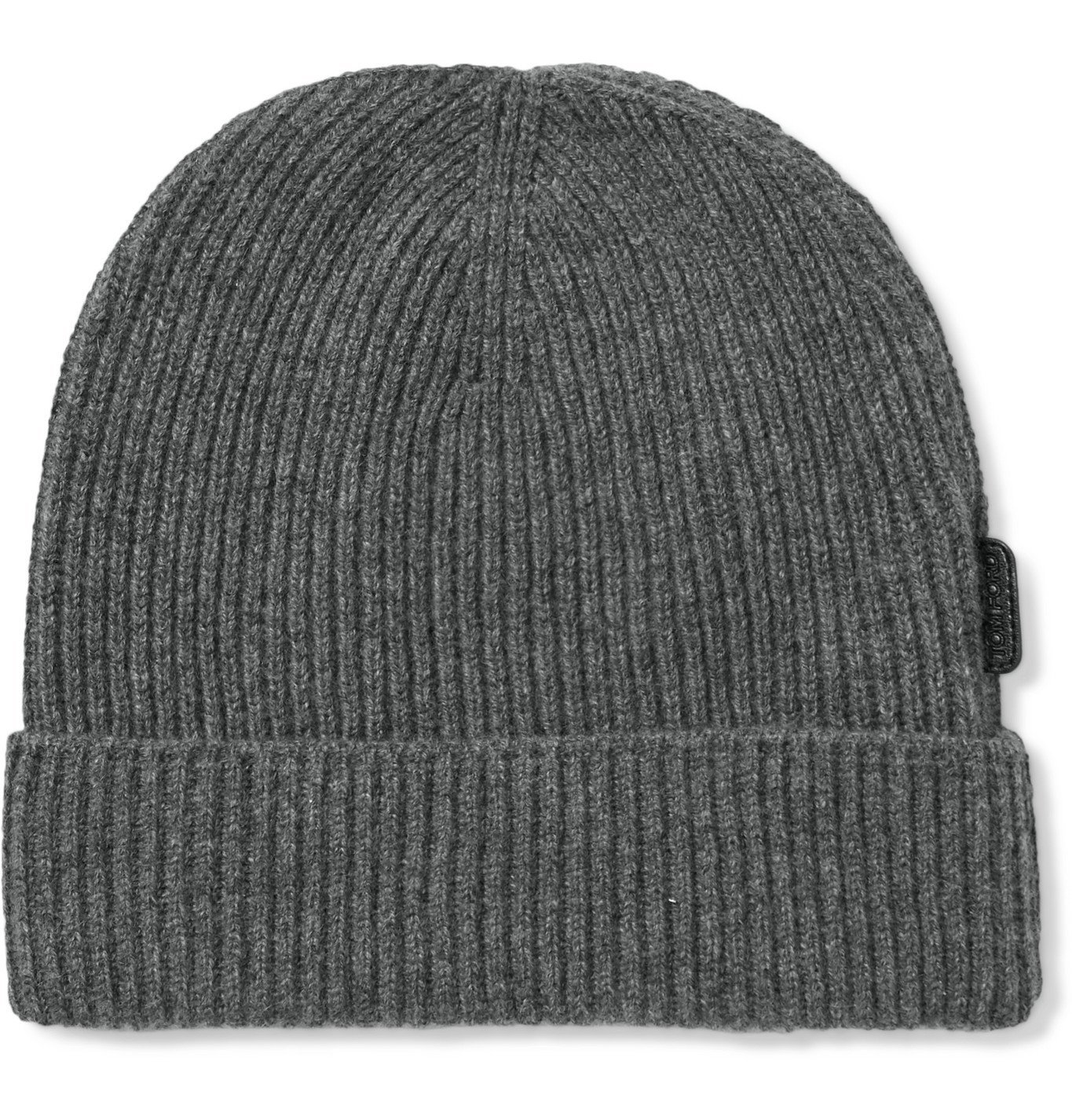 TOM FORD - Ribbed Cashmere Beanie - Gray