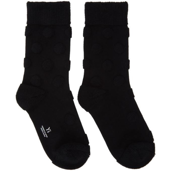 Photo: Ys Black Pile Dot Socks