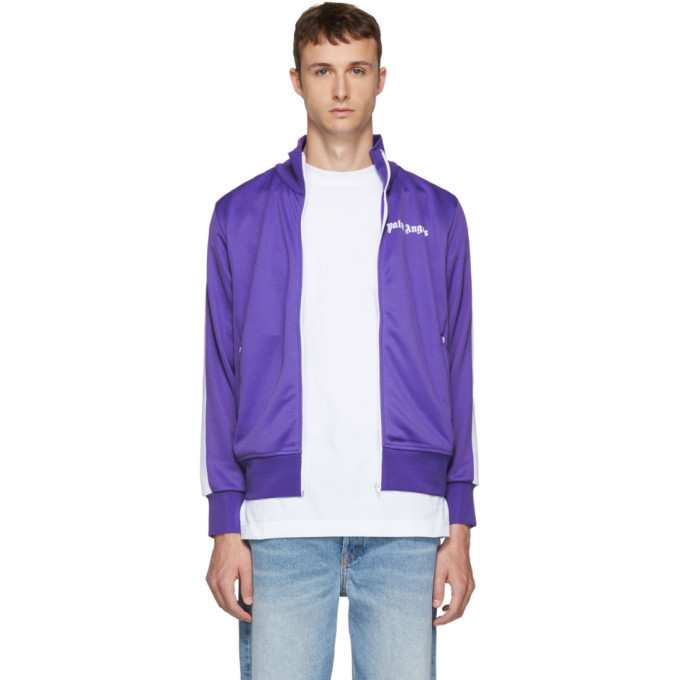 Photo: Palm Angels Purple and White Classic Track Jacket