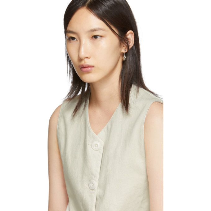 Lemaire Off-White Twill Vest