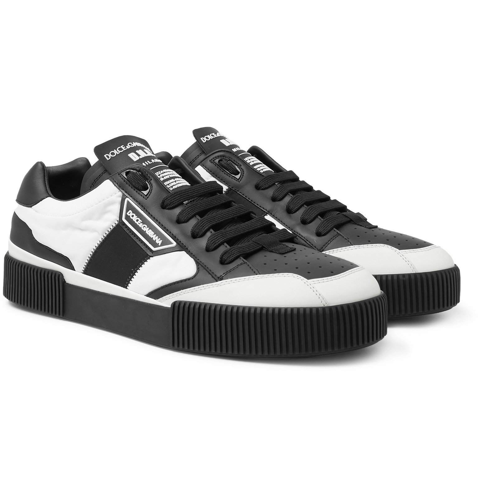 Photo: Dolce & Gabbana - Leather and Nylon Sneakers - White