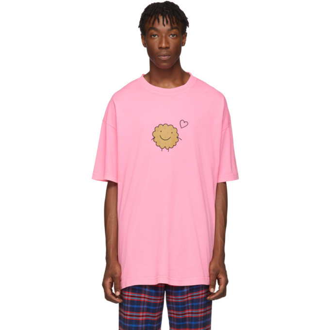Photo: VETEMENTS Two-Pack Pink Milk Cookie Couple T-Shirt