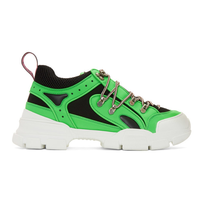 Photo: Gucci Green Flashtrek Sneakers