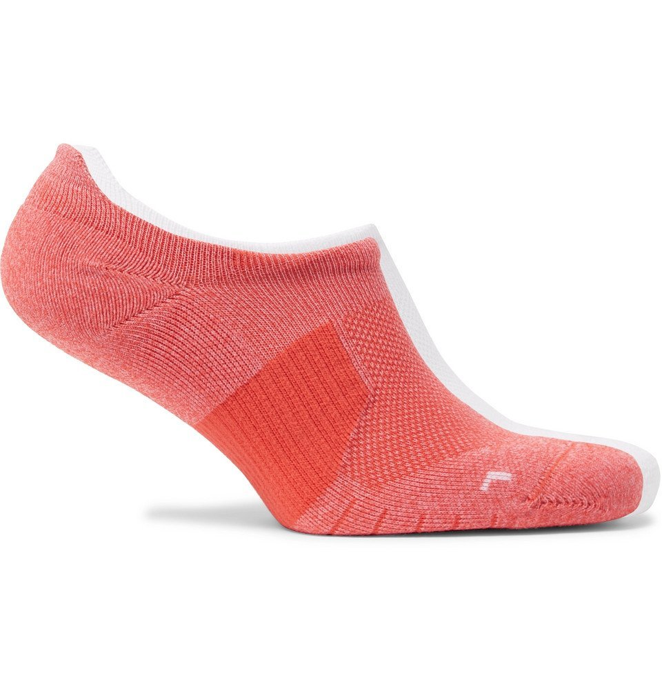 Photo: Nike Running - Two-Pack Multiplier Logo-Intarsia Dri-FIT No-Show Socks - Pink