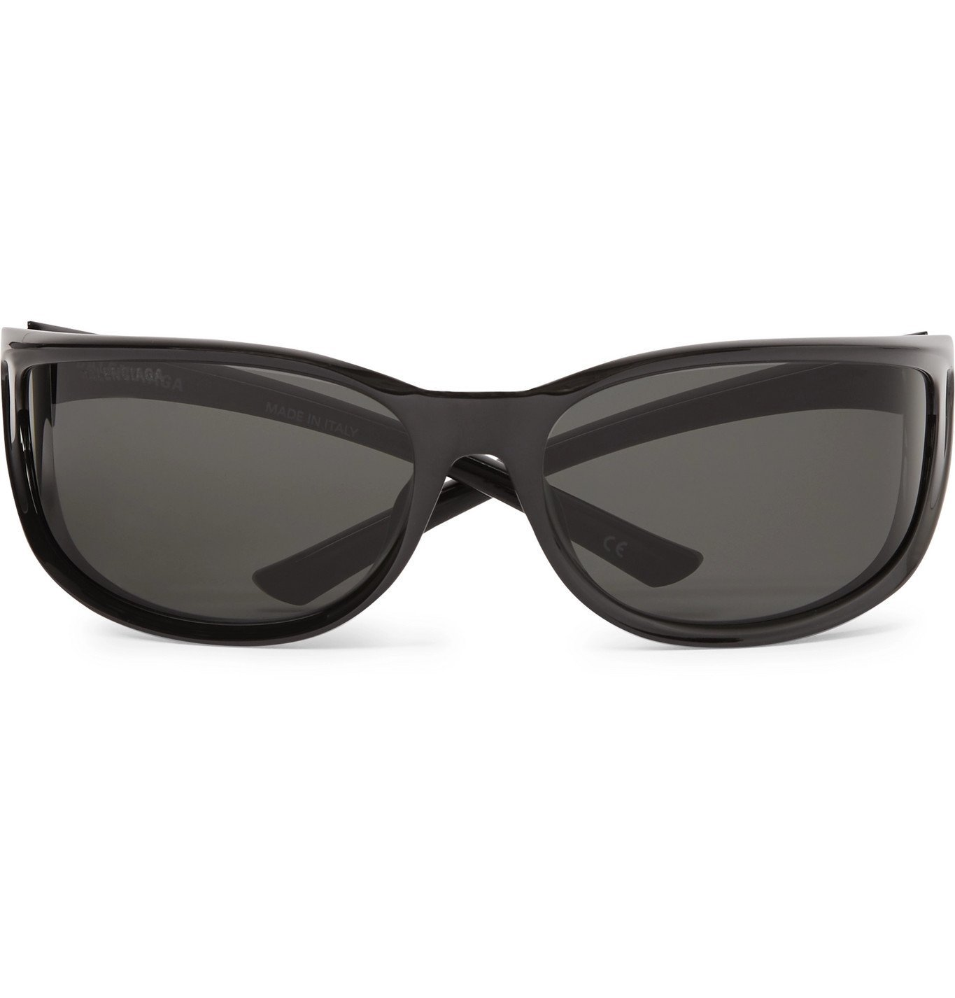 Photo: Balenciaga - Aviator-Style Gunmetal-Tone, Rubber and Acetate Sunglasses - Gray