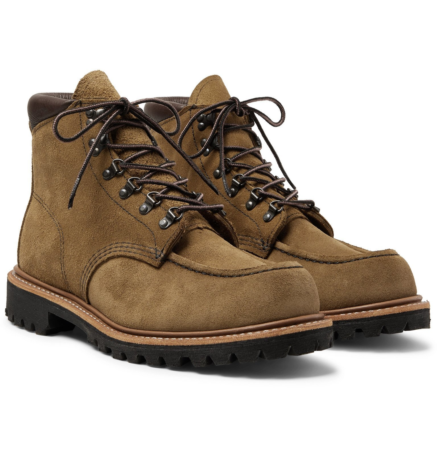 Photo: Red Wing Shoes - 2926 Sawmill Roughout Leather Boots - Brown