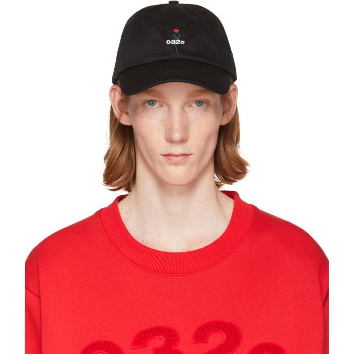 Photo: 032c SSENSE Exclusive Black Rose Cap