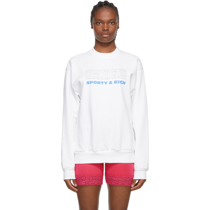 Photo: Sporty and Rich White Health Club Sweatshirt