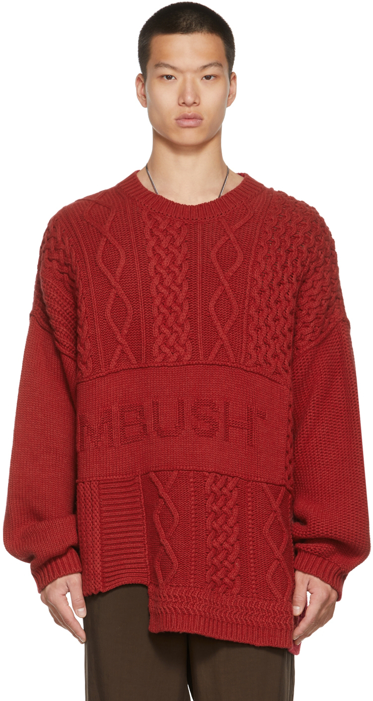 Photo: AMBUSH Red Patchwork Sweater
