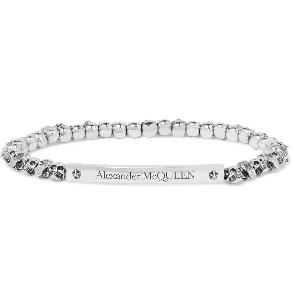 Photo: Alexander McQueen - Skull Silver-Plated Bracelet - Silver