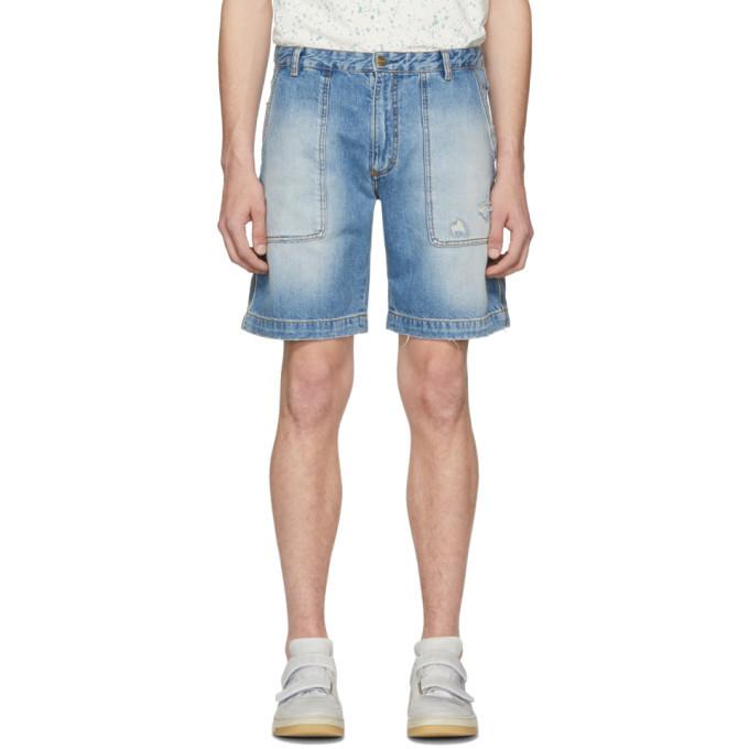 Photo: Acne Studios Indigo Bla Konst Remi Ripped Shorts