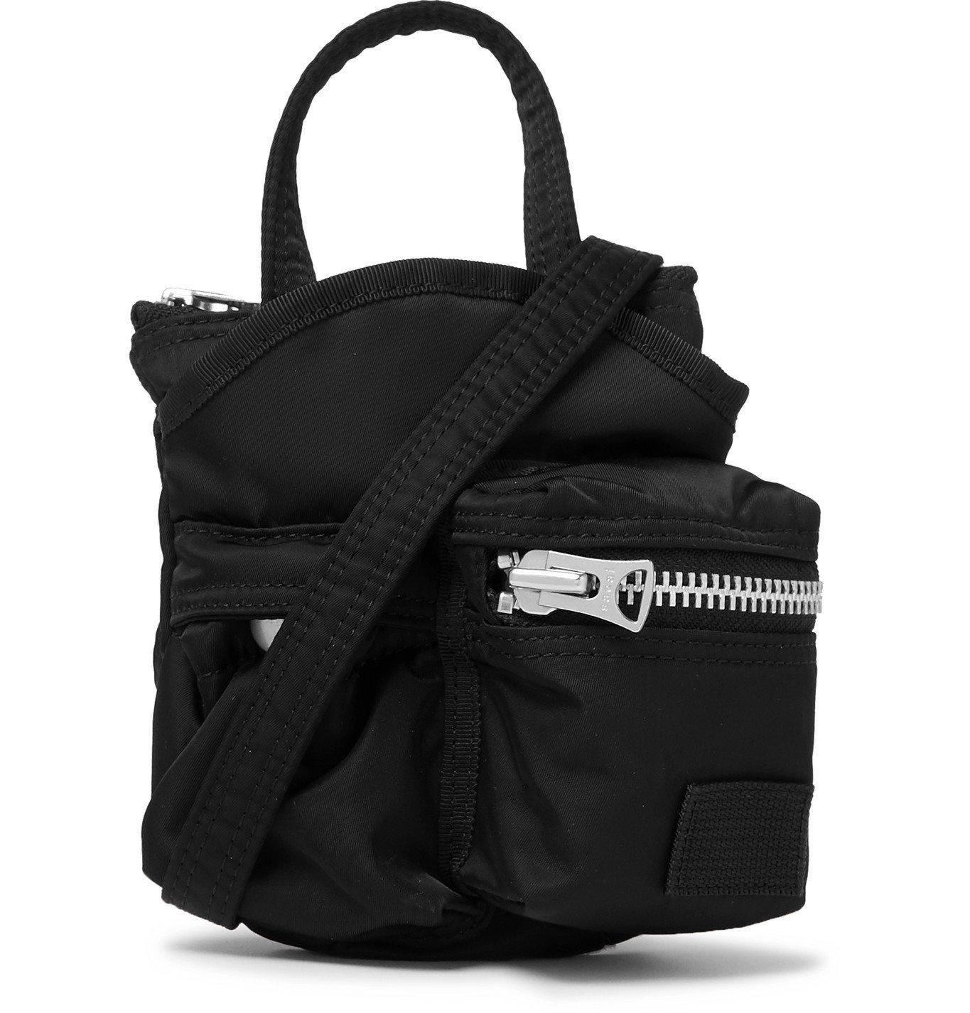 Sacai - Grosgrain-Trimmed Nylon Messenger Bag - Black