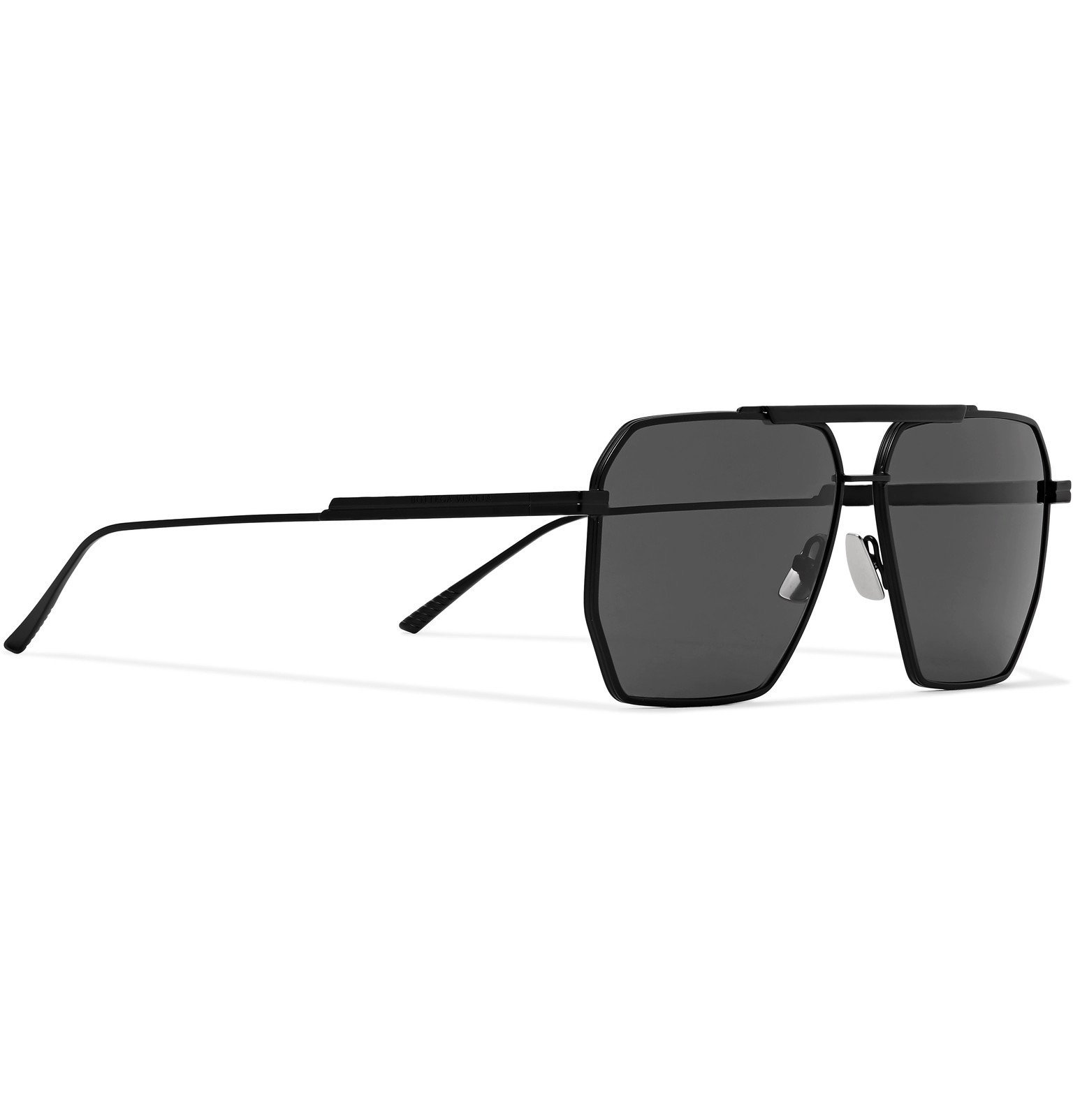 Bottega Veneta - Aviator-Style Metal Sunglasses - Black