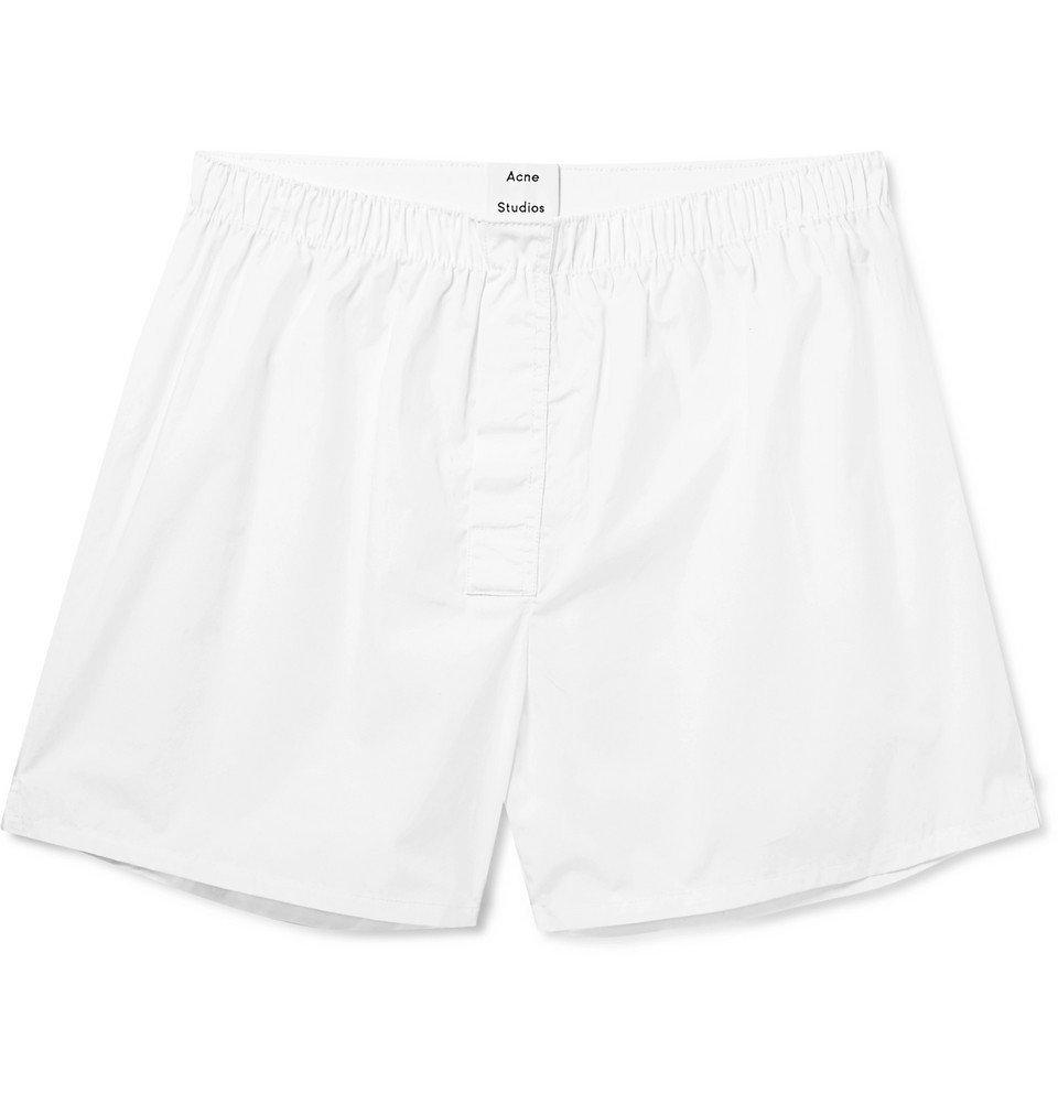Photo: Acne Studios - Boxa Cotton-Poplin Boxer Shorts - White