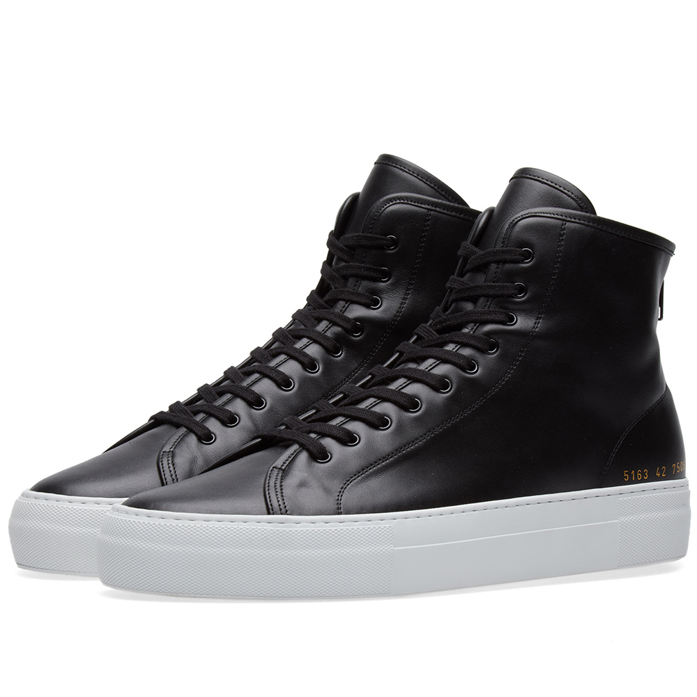 Photo: Common Projects Tournament High Zip Super Leather Black